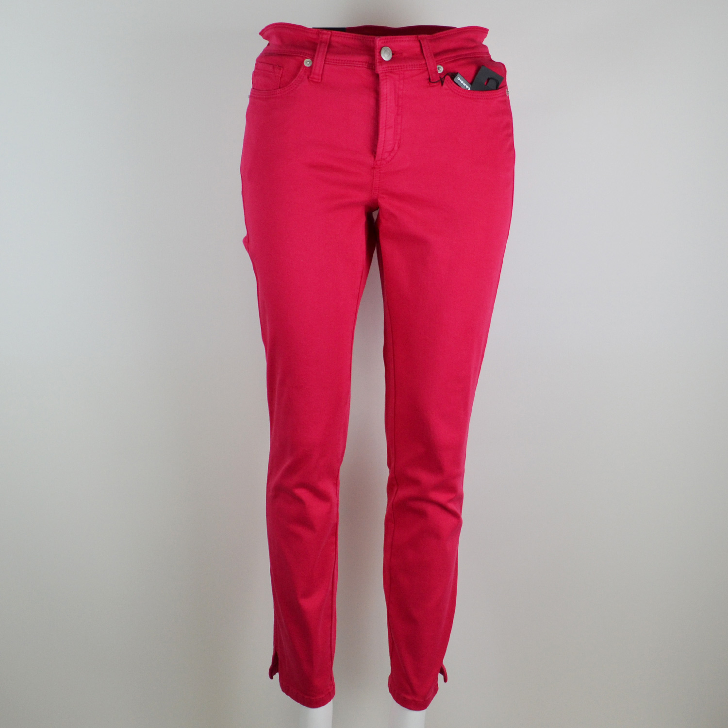 CAMBIO Damen Jeans Hose Piper Short in Rot 9521 003856 280