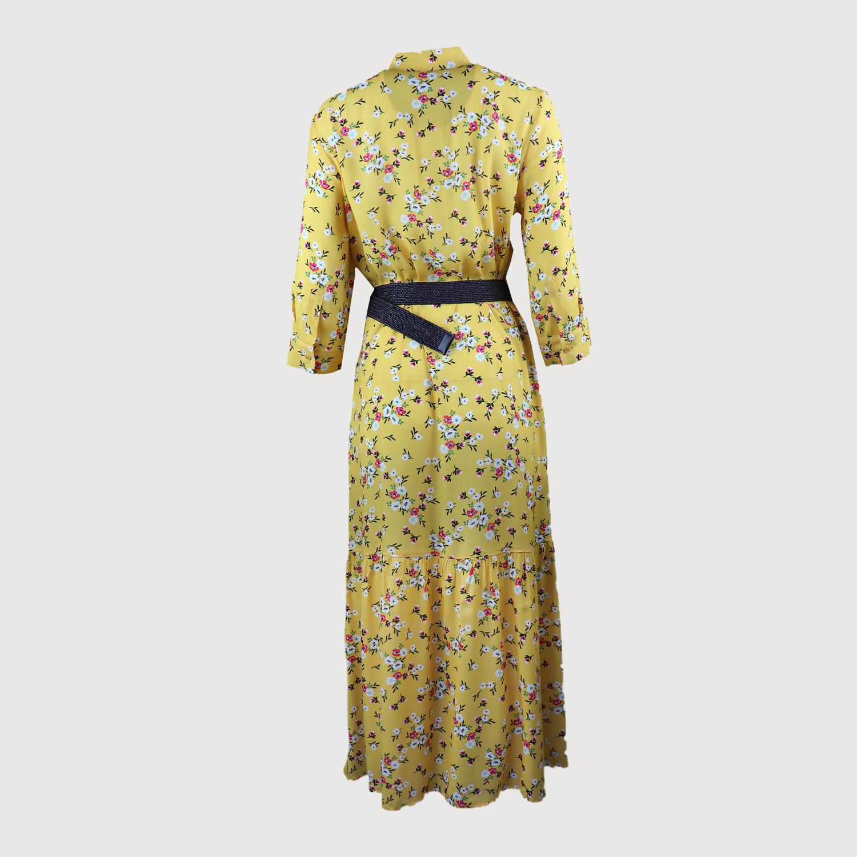 NADINE H Sommerkleid Kleid mit Gürtel 6902 in Gelb ...