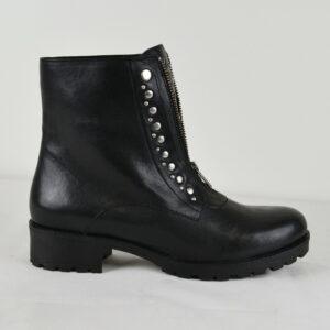 LAZAMANI-Damen-Herbst-Stiefel-85160-in-Schwarz-Leder-Nieten-Gr-37-41-NEU-113248903751