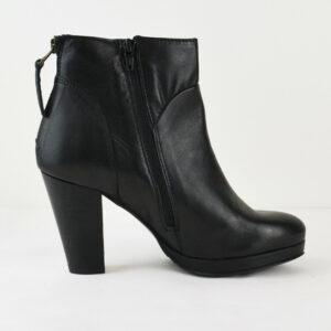 Lazamani-Damen-Leder-Stiefel-Boots-57156-Schwarz-Black-Gr-40-NEU-113949125011