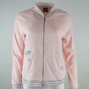 FROGBOX-Damen-Jacke-Bugs-Bunny-Reiverschluss-Pink-Gr-S-M-Neu-112928759913
