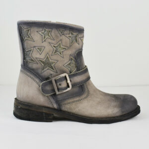 LAZAMANI-Damen-Stiefel-Cowboy-Style-Leder-Alaska-Asfalto-Gr-36-Neu-113949135774