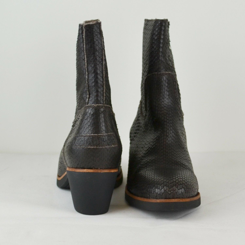 SHABBIES AMSTERDAM Damen Herbst Stiefel Eight Antik Leder