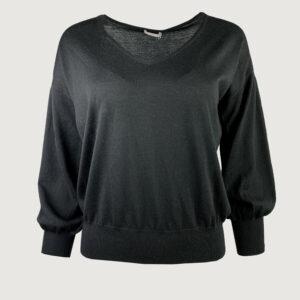 Hemisphere-Damen-Pullover-V-Neck-2114611-17-in-black-coral-Gr-34-42-NEU-114805615365