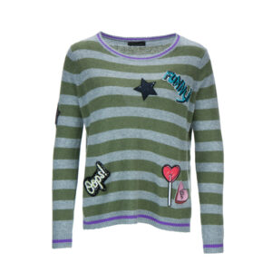 PRINCESS-GOES-HOLLYWOOD-Damen-Pullover-Patches-with-Stripes-Gr-36-44-Neu-112686615535