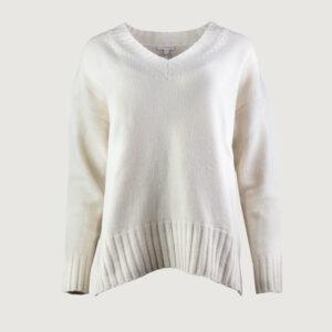 BETTER-RICH-Damen-Pullover-V-NECK-CLEAN-W90174000-in-Light-Beige-XS-M-NEU-114435733466