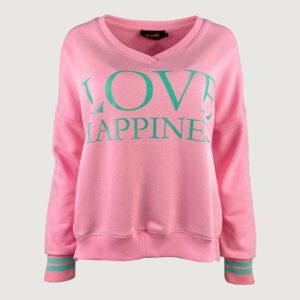Miss-Goodlife-Damen-Sweater-MG6434-Love-Happiness-in-Rosa-S-XL-NEU-114816186339
